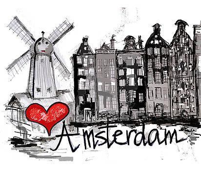 I love Amsterdam by Sladjana Lazarevic
