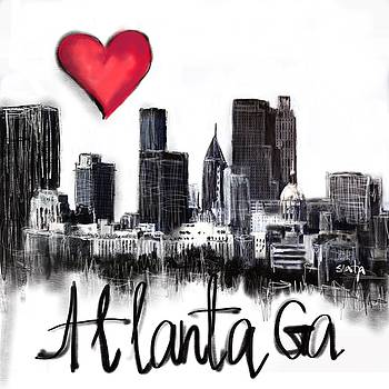 I love Atlanta Ga by Sladjana Lazarevic