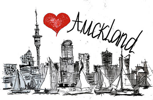 I love Auckland  by Sladjana Lazarevic