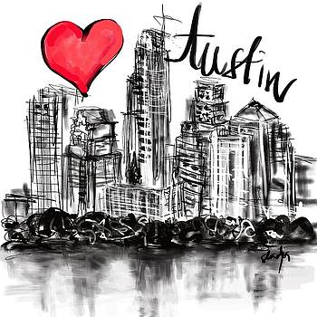 I love Austin by Sladjana Lazarevic