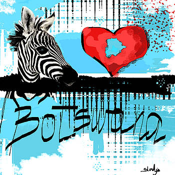 I love Botswana  by Sladjana Lazarevic
