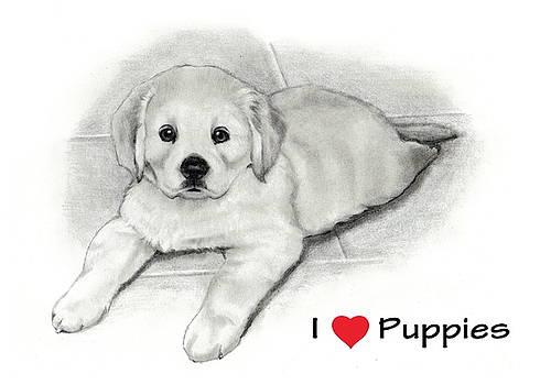 Joyce Geleynse - I Love Puppies Golden Retriever