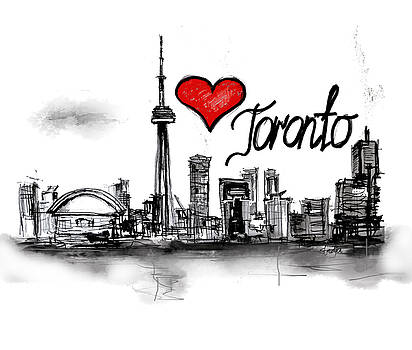 I love Toronto by Sladjana Lazarevic