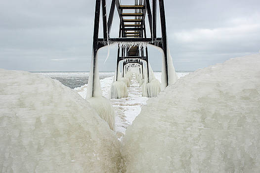 Ice Covered Pier by Tammy Chesney
