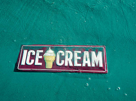 TONY GRIDER - ICE CREAM BEACH SIGN AQUA