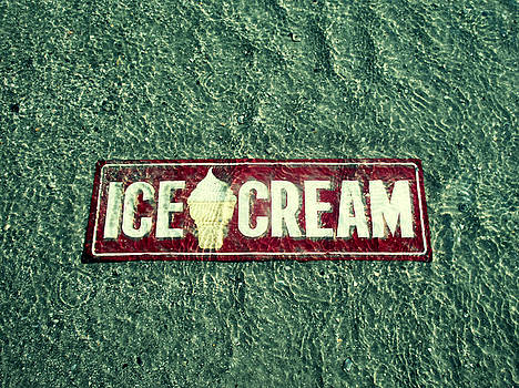TONY GRIDER - ICE CREAM BEACH SIGN SEA GREEN