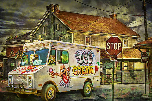Randall Nyhof - Ice Cream Truck crossing an Urban Intersection