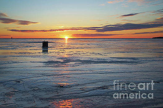 Ice Fishing on Summerside Harbour by Verena Matthew