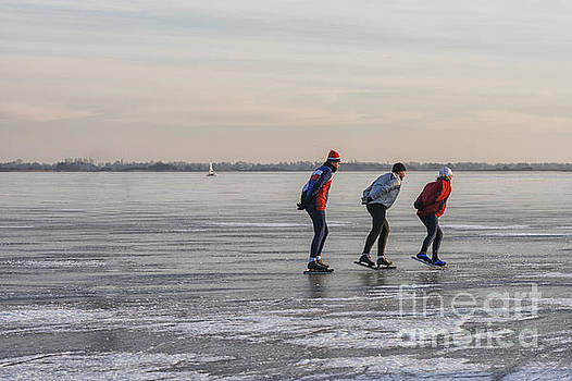 Patricia Hofmeester - Ice skating on a lake