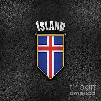 Iceland Pennant with high quality leather look by Carsten Reisinger