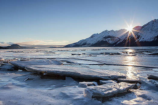 Icy Chilkat Sunset by Michele Cornelius