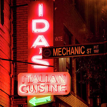 Ida's Italian Cuisine Neon Sign - Boston North End by Joann Vitali