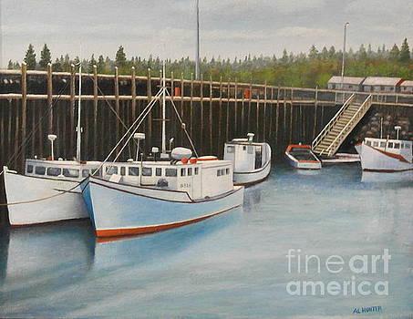 Idle at low tide by Al Hunter