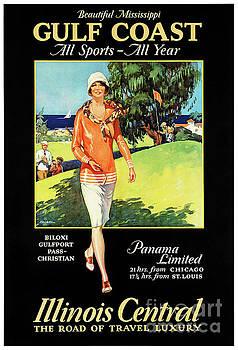 Illinois Mississippi Restored Vintage Poster by Carsten Reisinger
