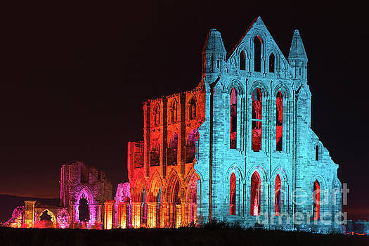 Illuminated Whitby Abbey by Martin Williams