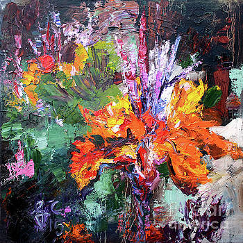 Ginette Callaway - Impressionist Canna Flower Oil Painting