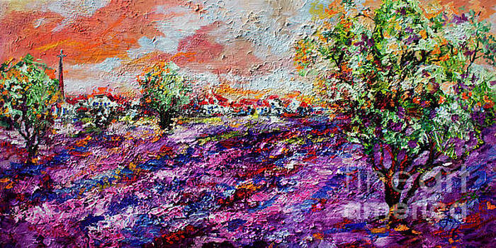 Ginette Callaway - Impressionist Lavender Fields Provence