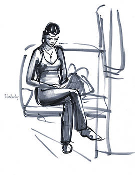 In A Train by Natoly Art