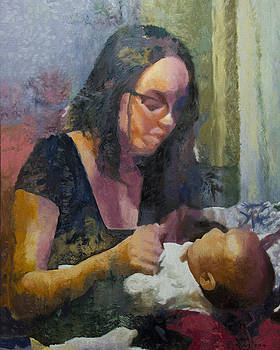 In Mother's Arms by Kenneth Young