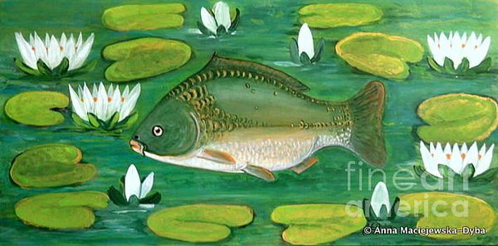 In the Pond by Anna Folkartanna Maciejewska-Dyba