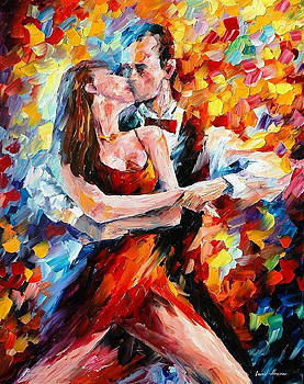 In The Rhythm Of Tango 2 - PALETTE KNIFE Oil Painting On Canvas By Leonid Afremov by Leonid Afremov