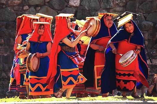 Inca Dancers Cusco Peru by Roupen  Baker