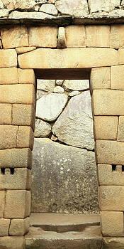 Inca gate, Machu Picchu by Roupen  Baker