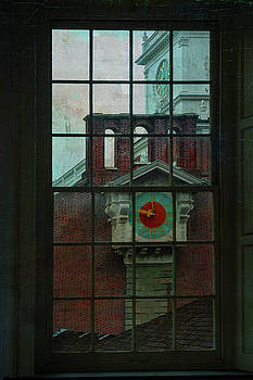 Independence Hall through Congressional Window by Jeff Burgess