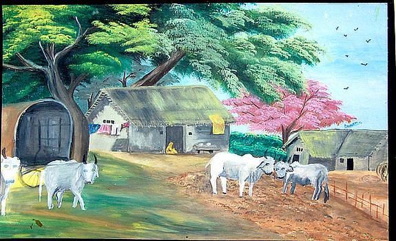 Indian Village by Sonam Shine