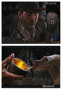 Indiana Jones Masterpieces Sketch Cards by Daniel Bergren