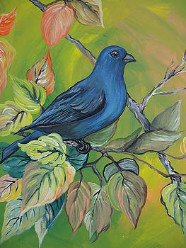 Indigo Bunting by Leslie Manley