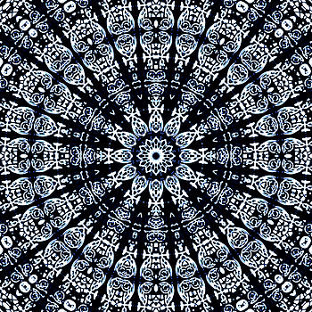 Indigo Flow Blue Kaleidoscope by Joy McKenzie