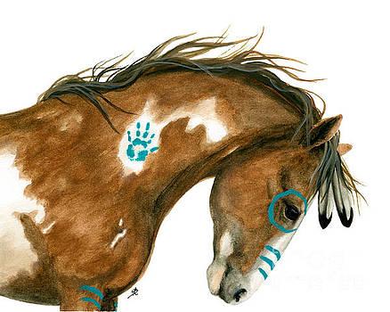 Indy Pinto Horse by AmyLyn Bihrle