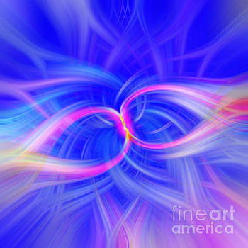 Infinity Blue and Pink Light Abstract by Phill Petrovic