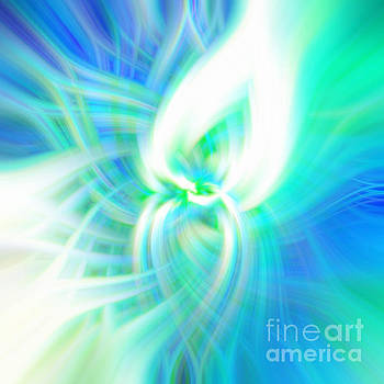 Infinity Green Abstract by Phill Petrovic