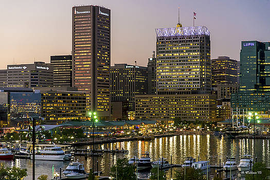 Inner Harbor At Dusk by Brian Wallace