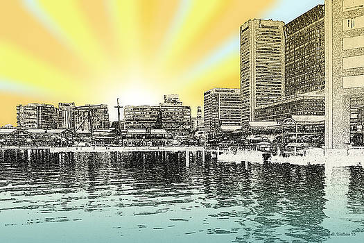 Inner Harbor - Digital Art by Brian Wallace