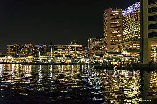Inner Harbor - Night by Brian Wallace