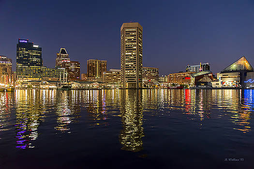 Inner Harbor Nightlights by Brian Wallace