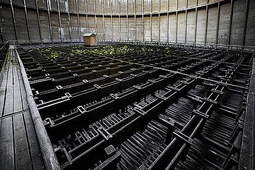Inside of cooling tower - industrial decay by Dirk Ercken