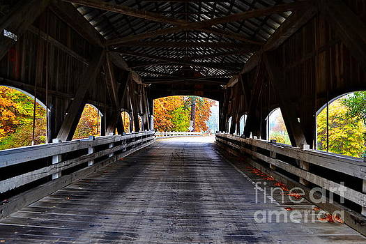 Inside the Rochester Covered Bridge by Ansel Price