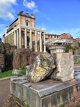 Inside the Roman Forum by Dave Mills