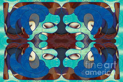 Inspired Blues Abstract Art by Omashte by Omaste Witkowski