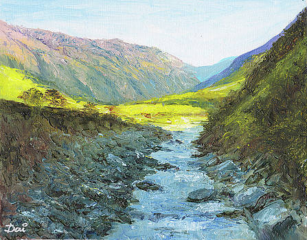 Into a sunlit valley by Dai Wynn