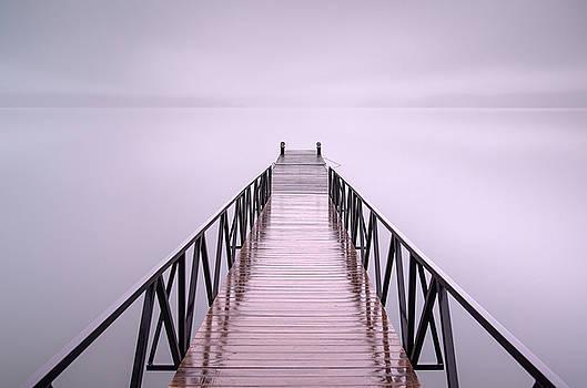 Foggy Jocassee Morning by Derek Thornton