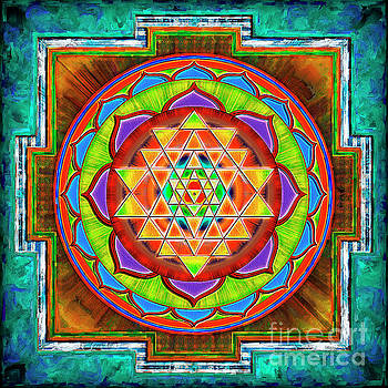 Intuition Sri Yantra 2 by Dirk Czarnota
