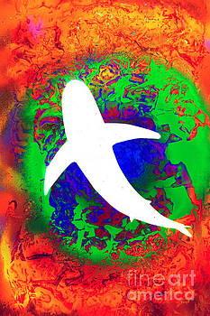 Invert Tie Dye Shark by Justin Moore