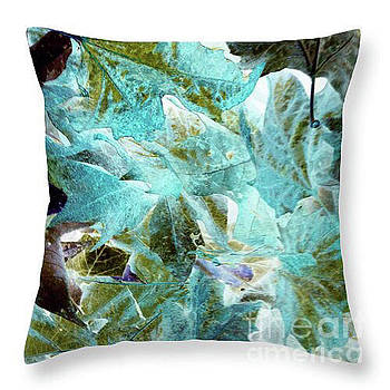 Inverted Leaves Throw Pillow by Gayle Price Thomas