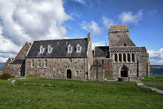 Iona Abbey Scotland by Jacqi Elmslie