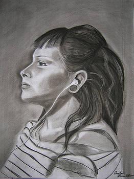 Ipod - Female Portrait by Candace Barnett